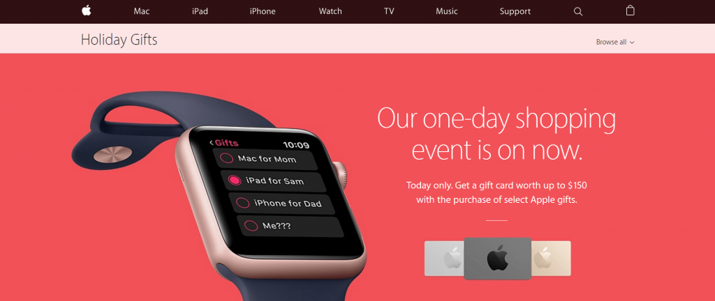 Black Friday Apple Watch Campaign