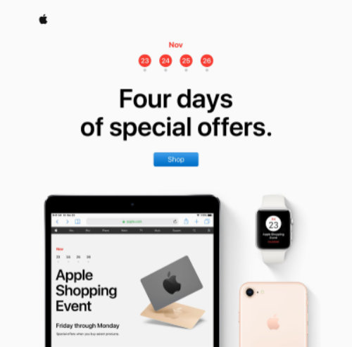 Black Friday Apple Email