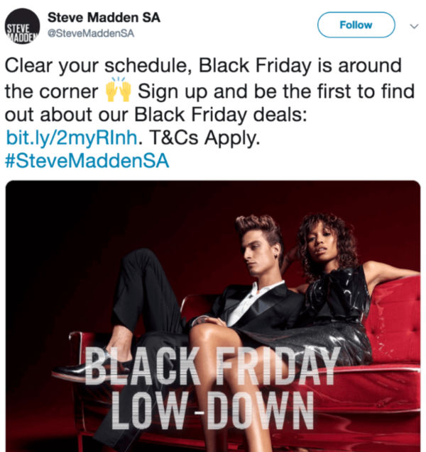 Steve Madden Early Access Email Campaign