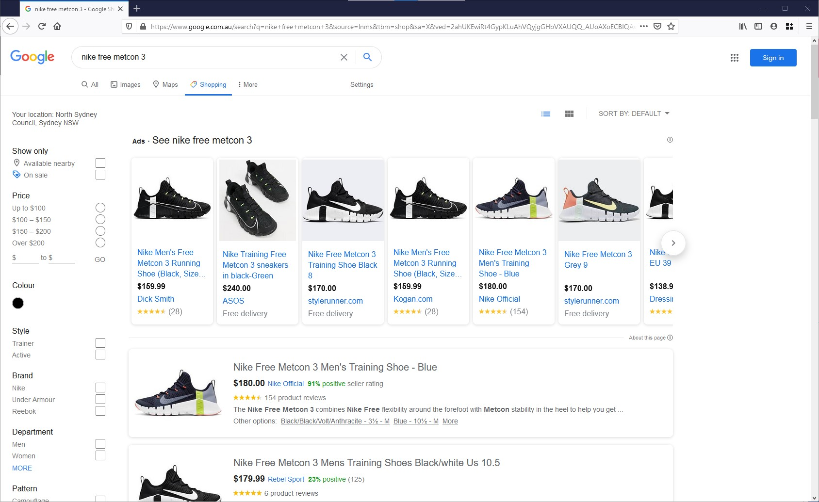 Paid Media ads in Google Shopping